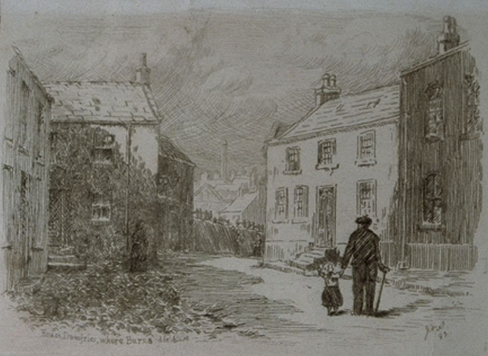 'House Dumfries, Where Burns Died', 1882