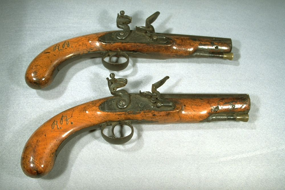 Pair of pistols carried by Burns when on excise duties